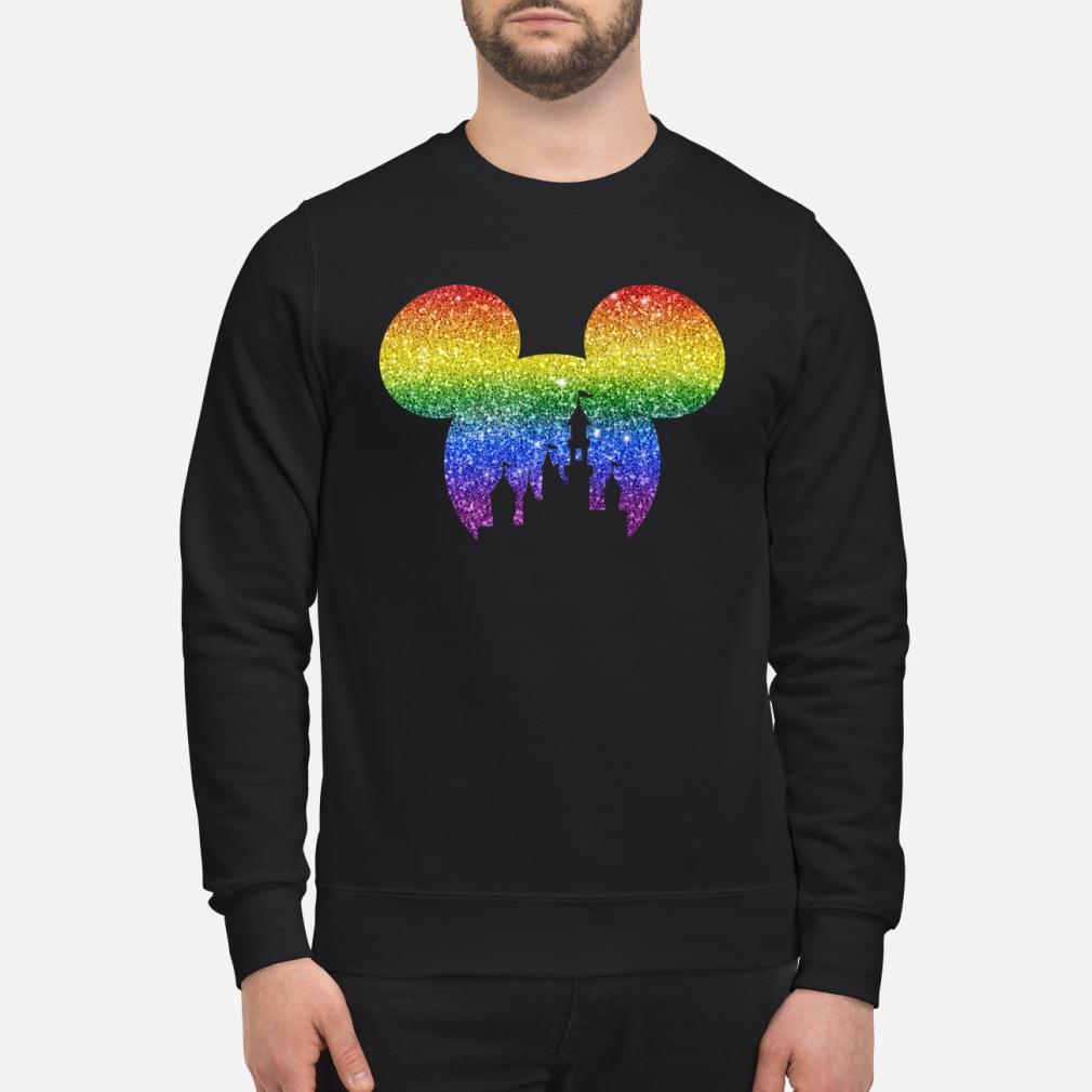 LGBT mickey disney castle shirt sweater