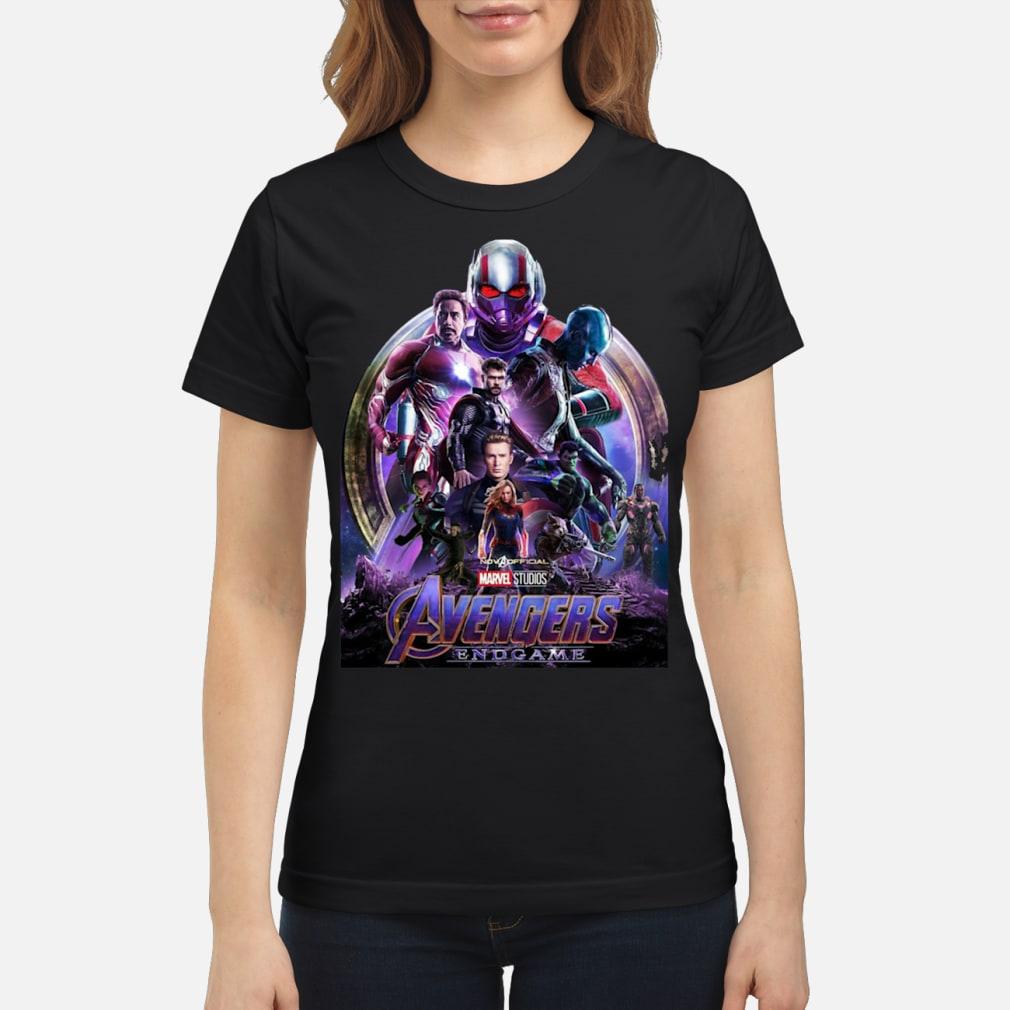 Marvel Avengers EndGame poster sweatshirt ladies tee