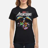 Marvel Avengers Endgame Unicorn Avencorns ladies shirt ladies tee