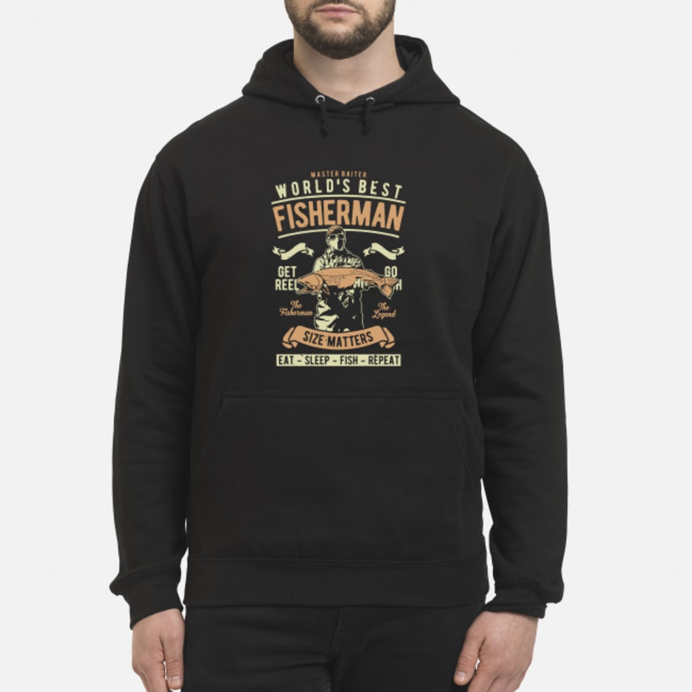Master baiter world's best fisherman size matters shirt hoodie