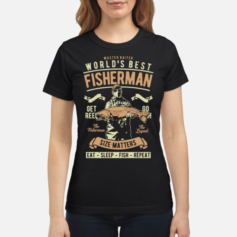 Master baiter world's best fisherman size matters shirt ladies tee