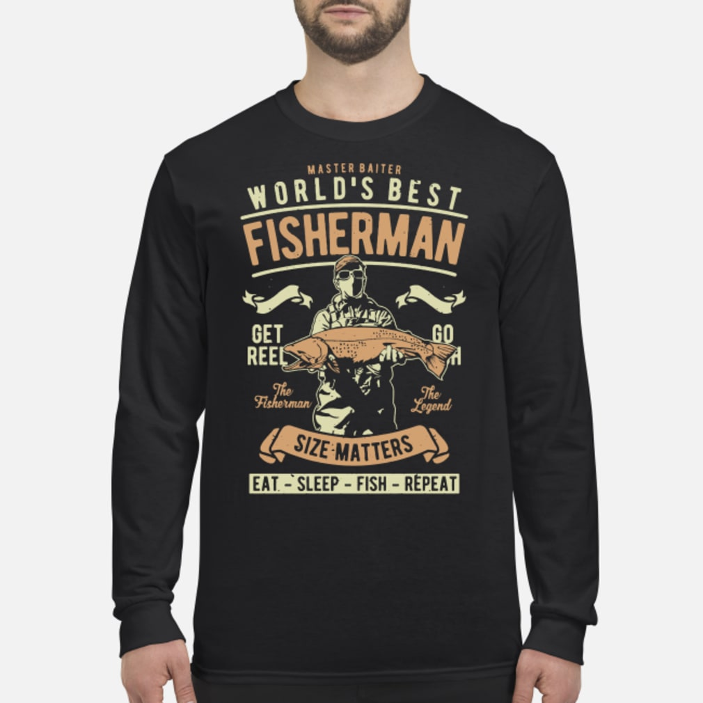 Master baiter world's best fisherman size matters shirt Long sleeved
