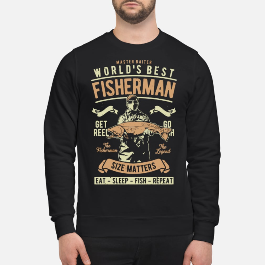 Master baiter world's best fisherman size matters shirt sweater