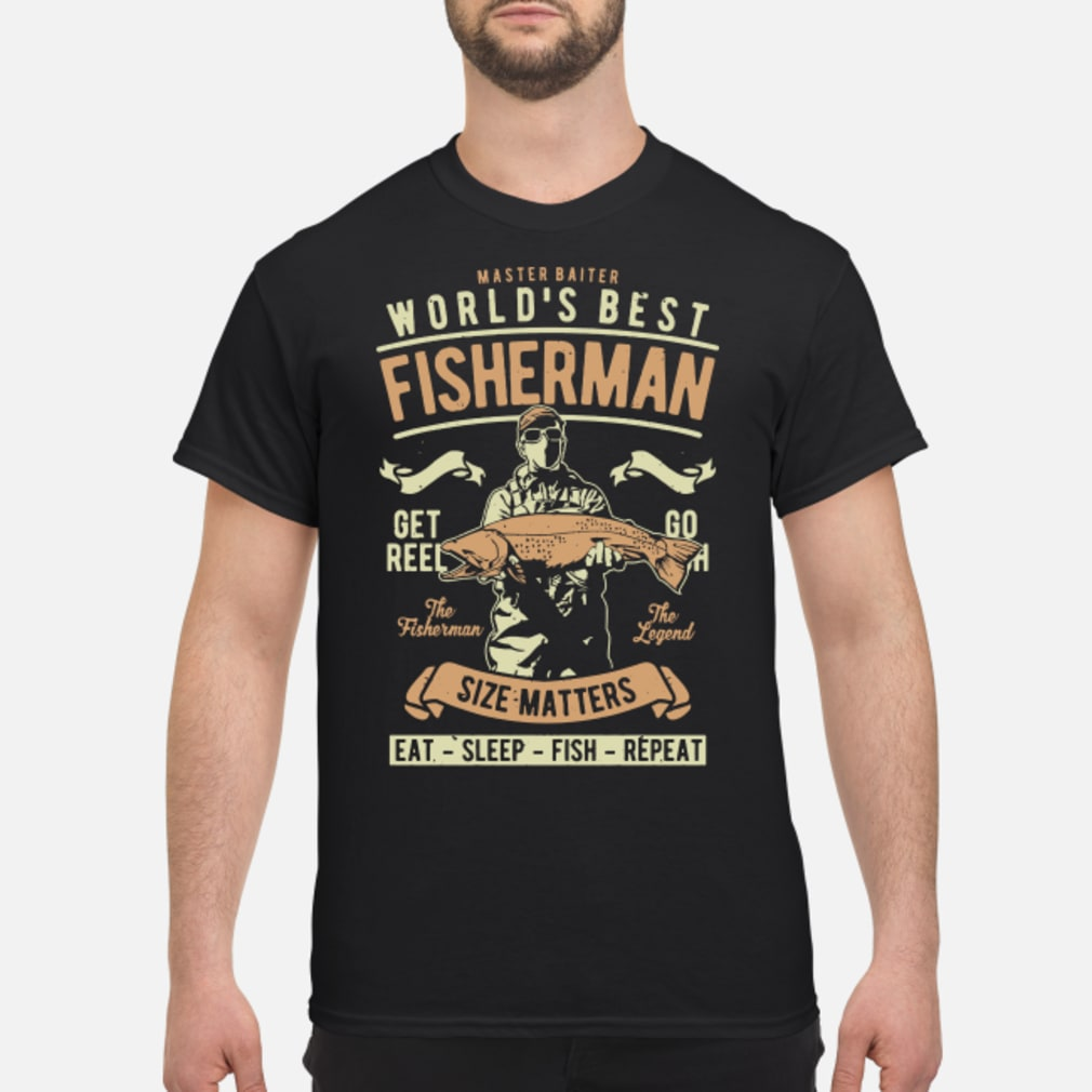 Master baiter world's best fisherman size matters shirt