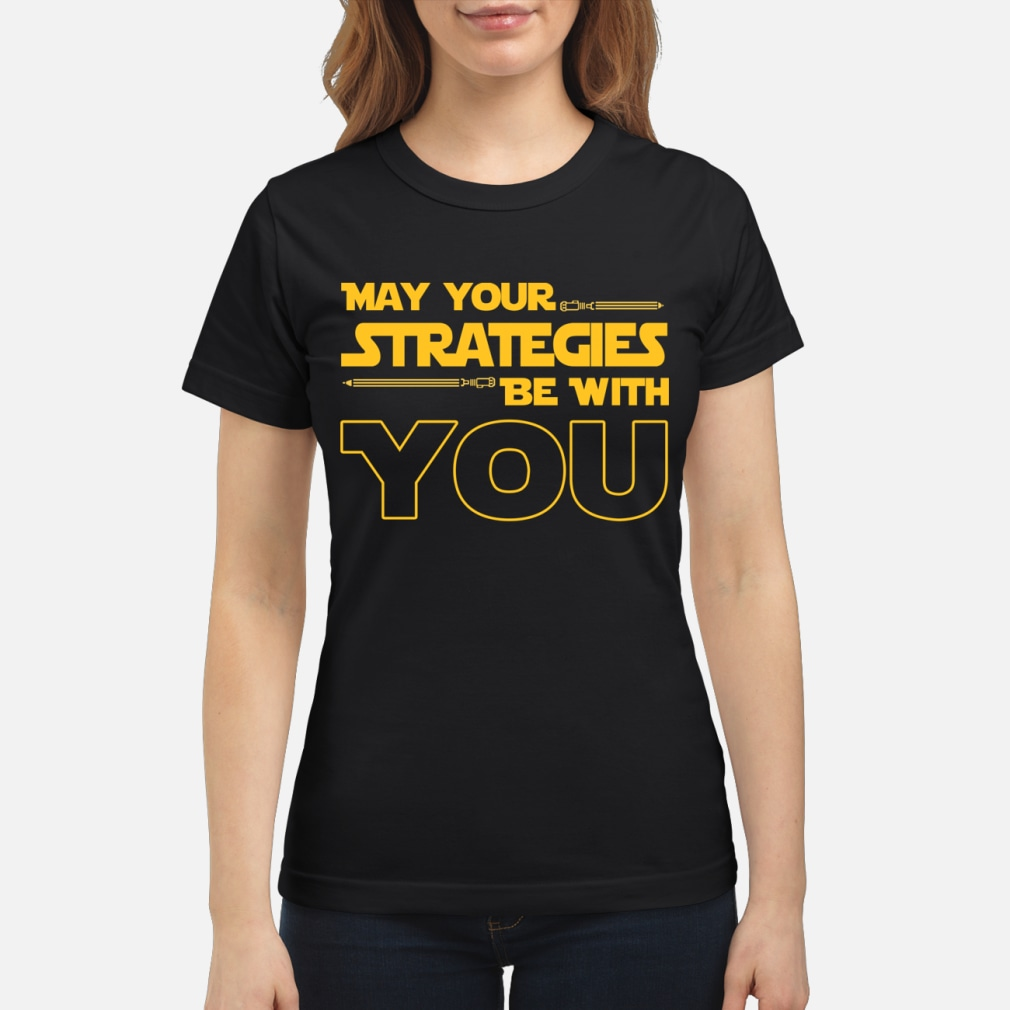 May Your strategies be with you star war version shirt ladies tee