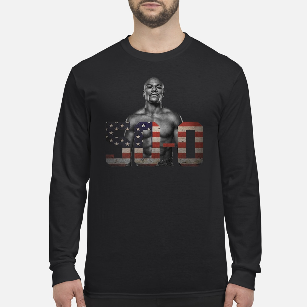 Mayweather 50 – 0 shirt Long sleeved