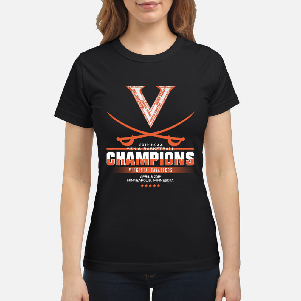 Men's Basketball Champion Virginia Cavaliers Shirt ladies tee