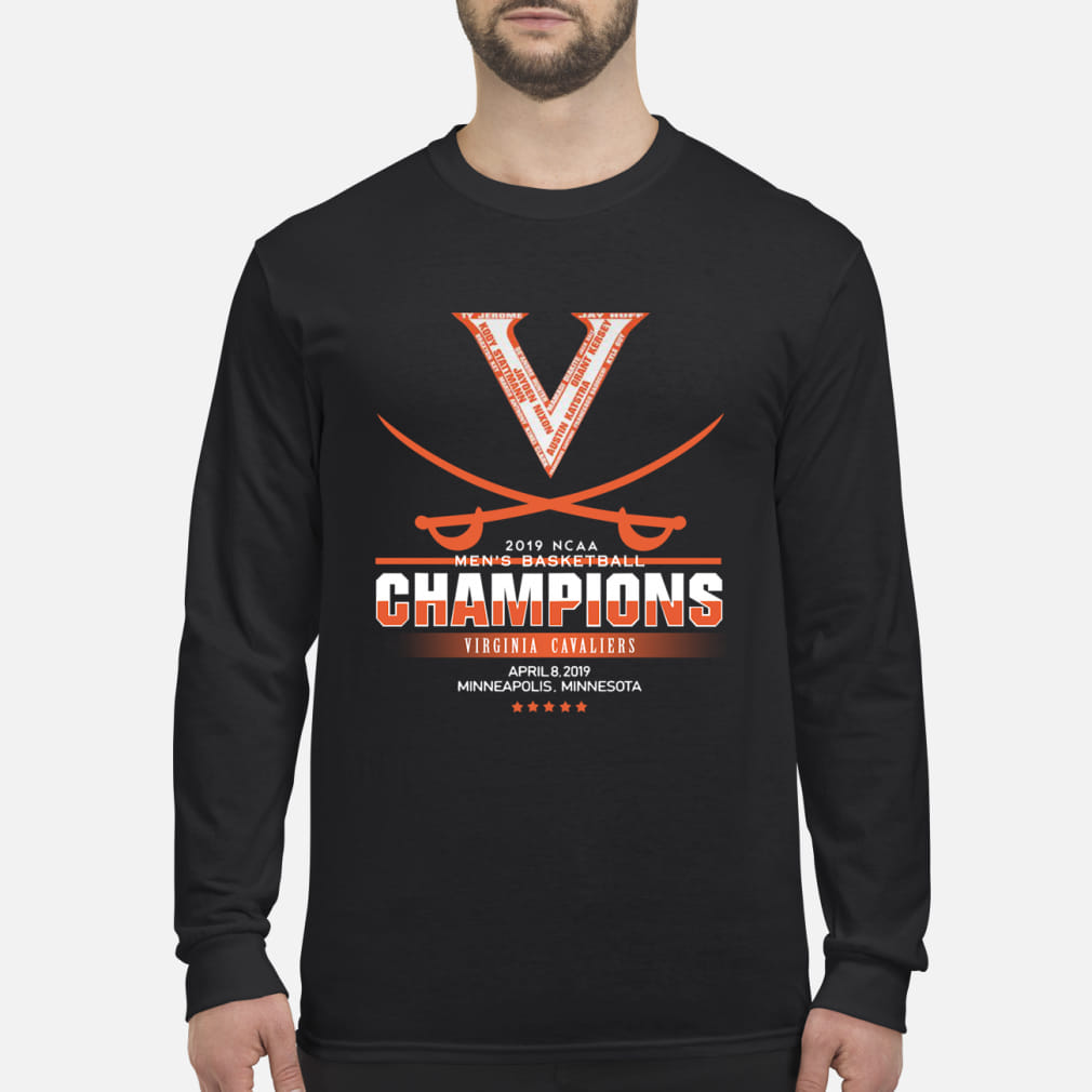 Men's Basketball Champion Virginia Cavaliers Shirt Long sleeved