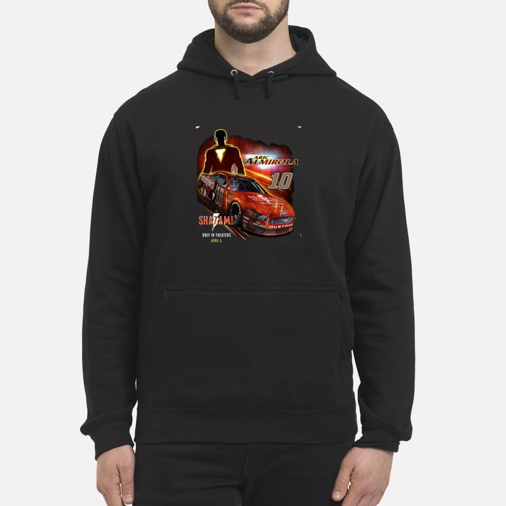 Men's aric Almirola Stewart-Haas racin Team Collection Black Shazam Shirt hoodie