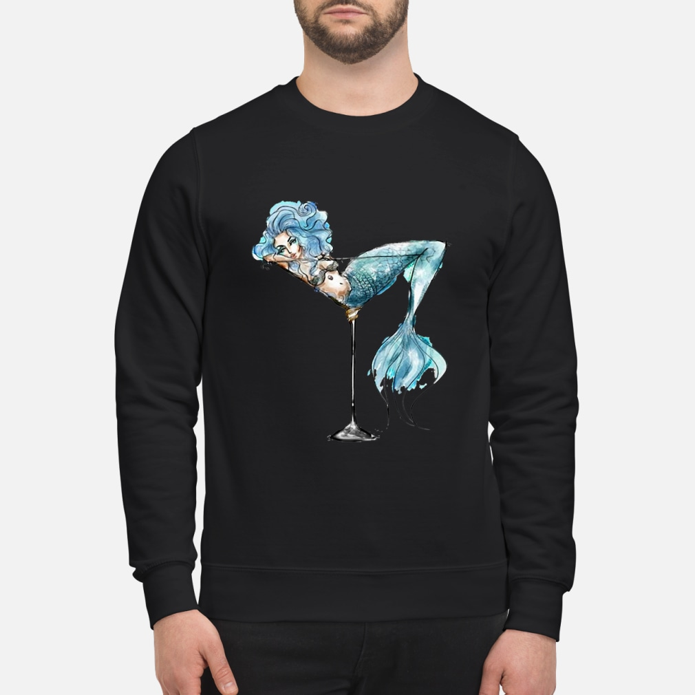 Mermaid and cocktail glass shirt sweater
