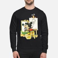 Mickey mouse drawing Walt Disney shirt sweater