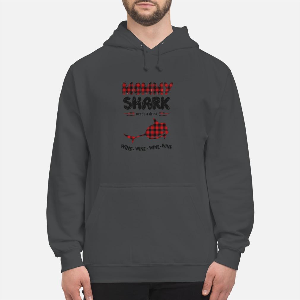 Mommy shark needs a drink wine wine wine ladies shirt hoodie