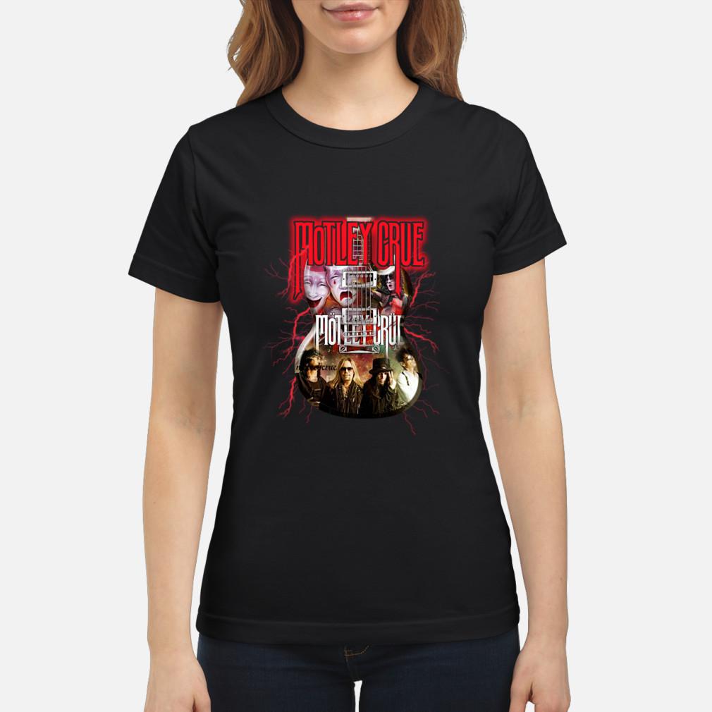 Motley Crue In Electric Guitar Shirt ladies tee