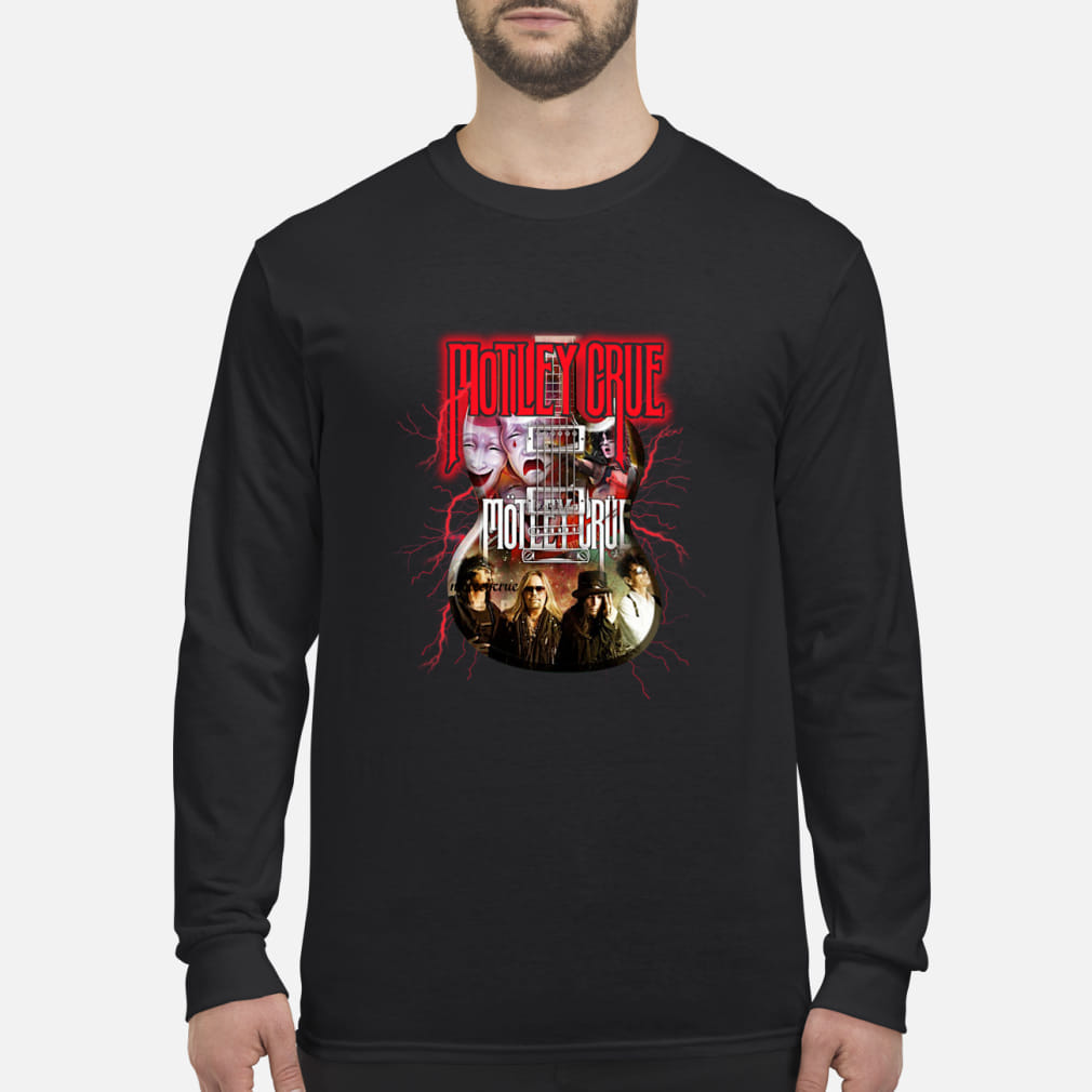 Motley Crue In Electric Guitar Shirt Long sleeved