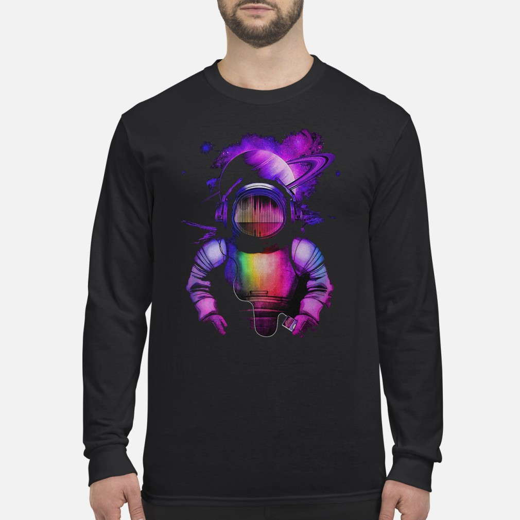Music in space shirt Long sleeved