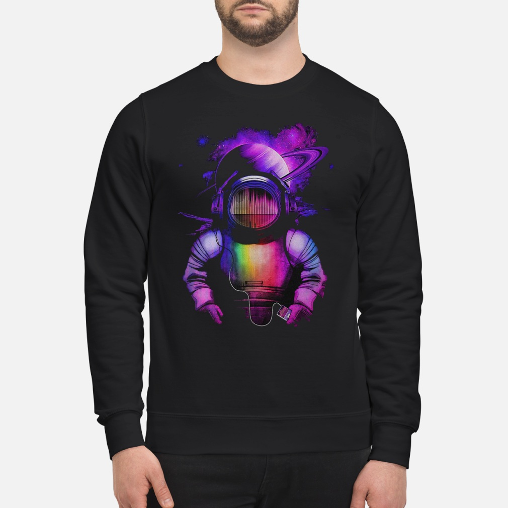 Music in space shirt sweater