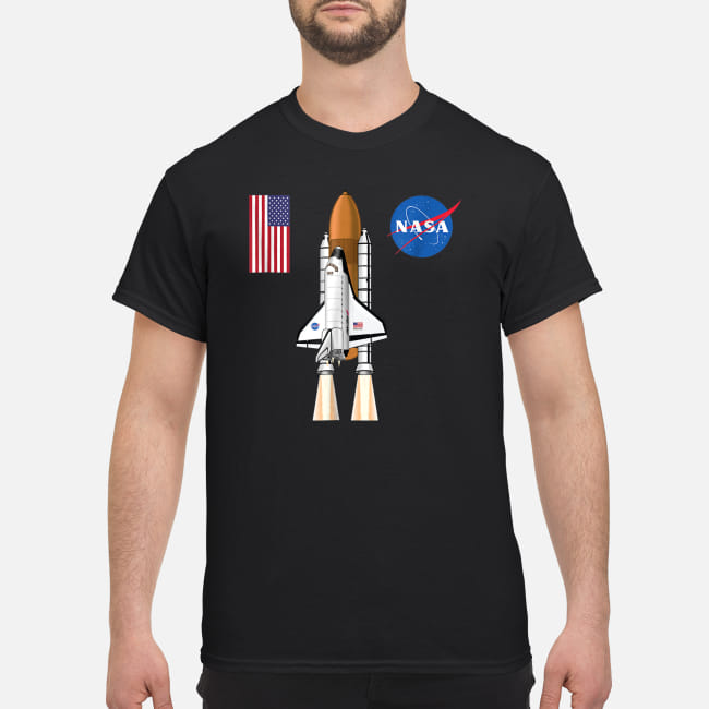 NASA Atlantis Space Rocket T Shirt