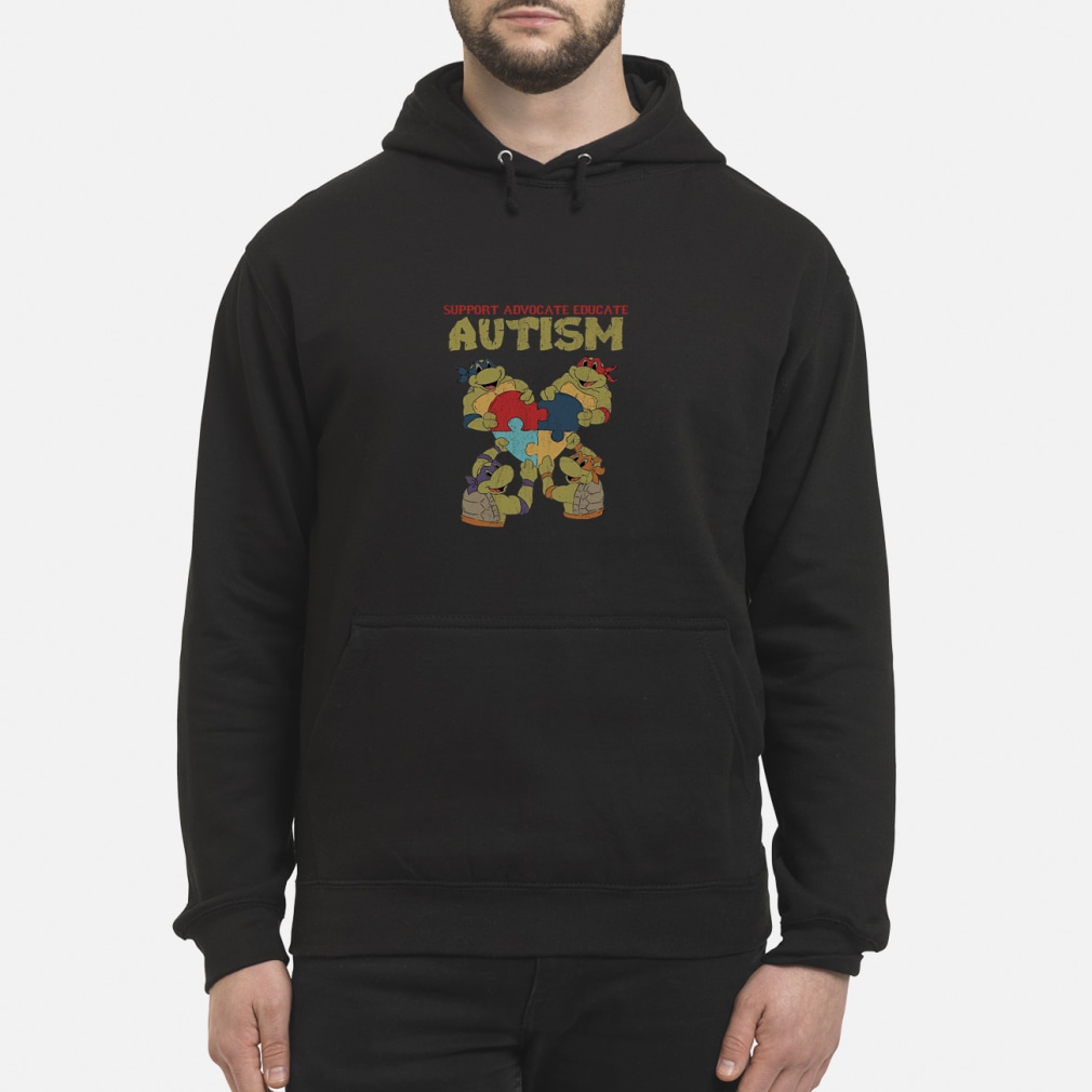 424ae1c7a437 Official Ninja turtle support advocate educate autism shirt, hoodie ...