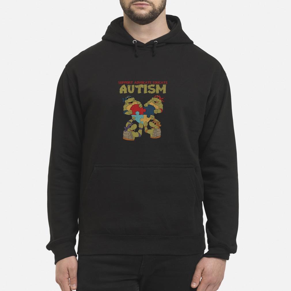 Ninja turtle support advocate educate autism shirt hoodie
