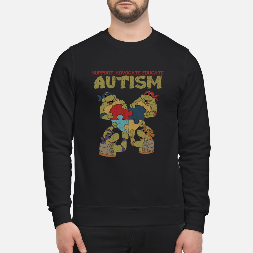 Ninja turtle support advocate educate autism shirt sweater