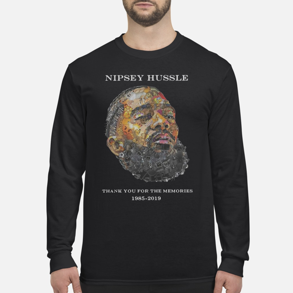 Nipsey Hussle Thank you for the memories shirt Long sleeved
