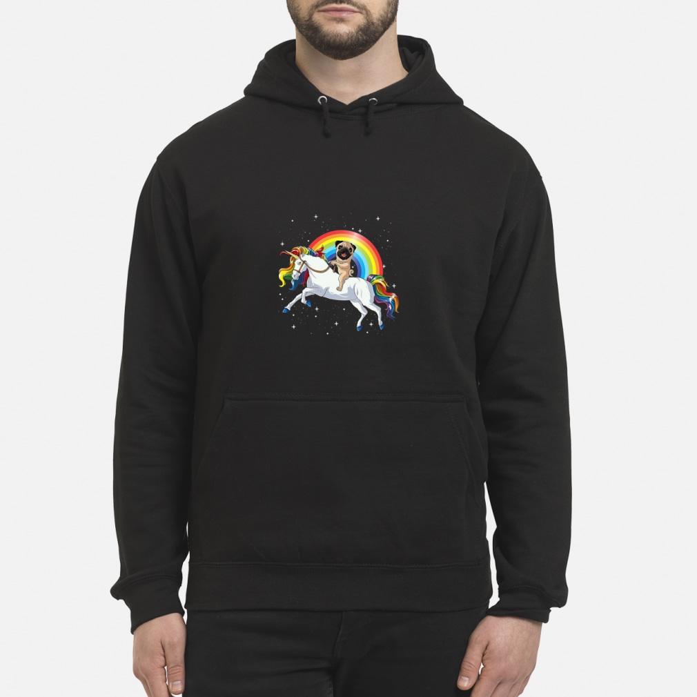Pitbull Riding Unicorn Rainbow shirt hoodie