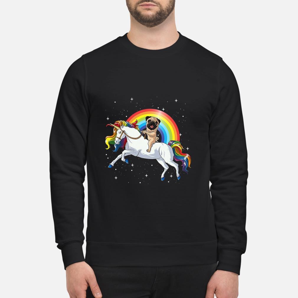 Pitbull Riding Unicorn Rainbow shirt sweater