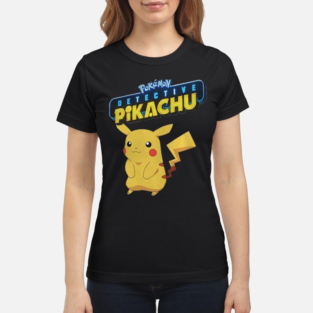 Pokemon Detective Pikachu shirt ladies tee