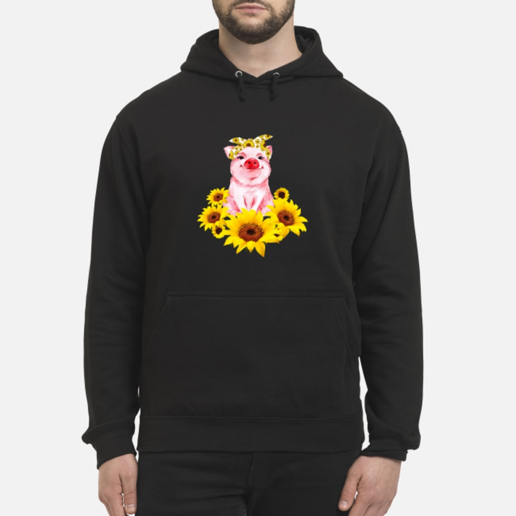 Pretty Pig with Sunflower Shirt hoodie