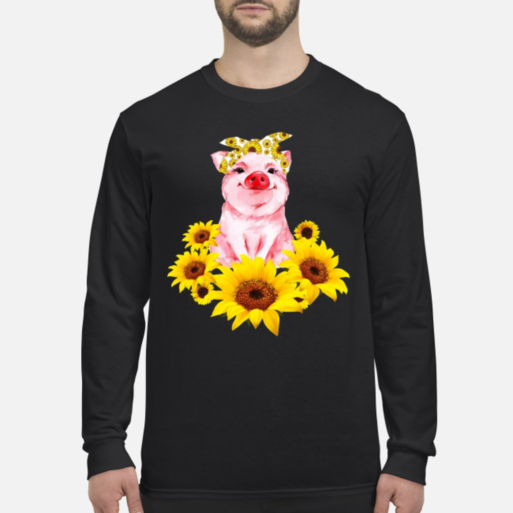 Pretty Pig with Sunflower Shirt long sleeved