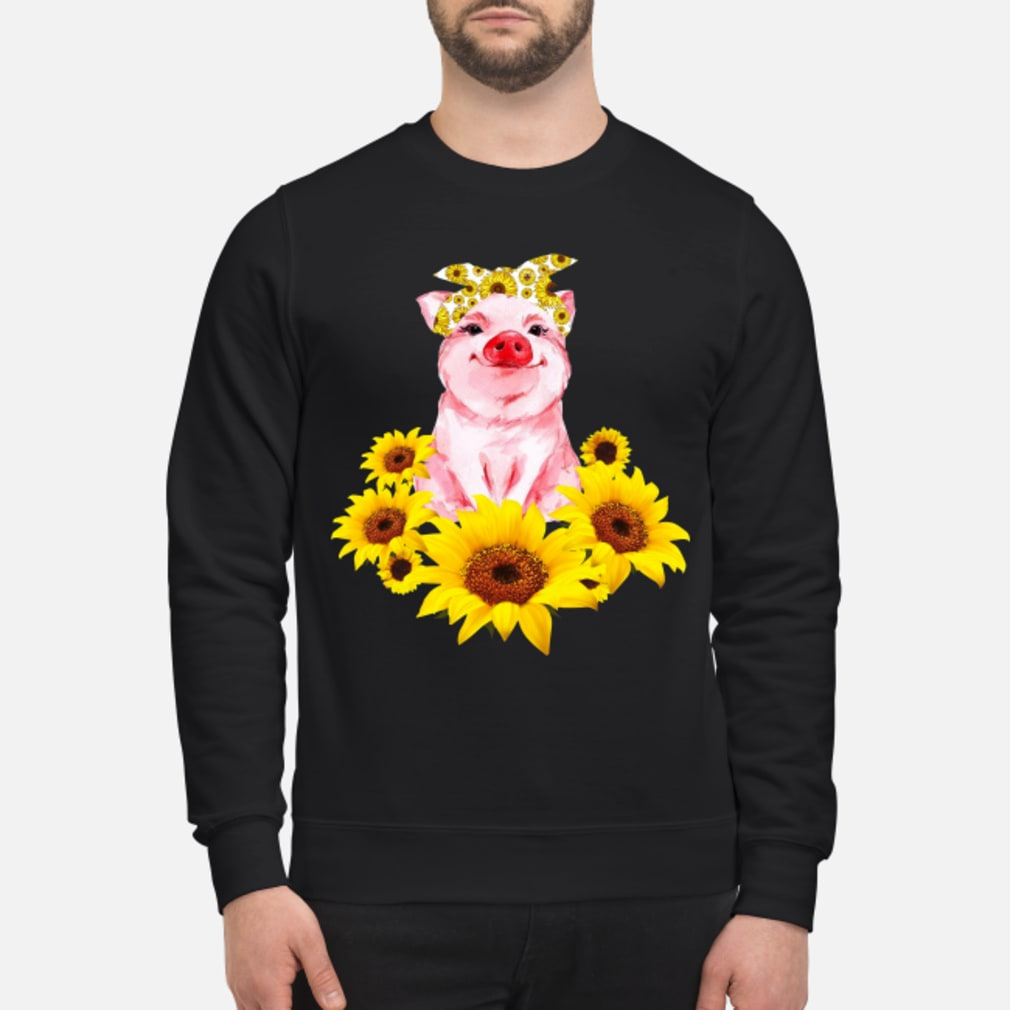 Pretty Pig with Sunflower Shirt sweater