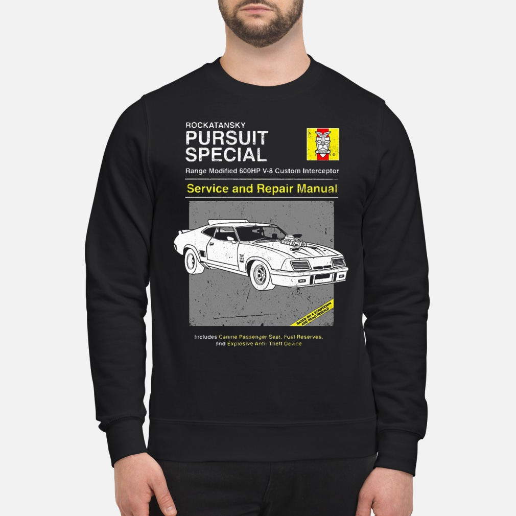 Pursuit Special Service and Repair shirt sweater