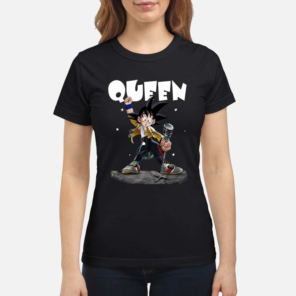 Queen Freddie Mercury Songoku shirt ladies tee