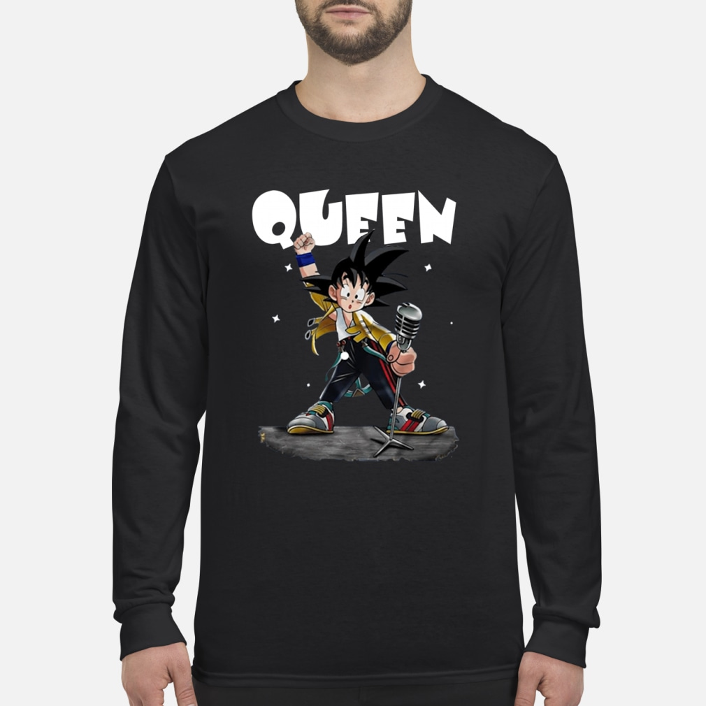 Queen Freddie Mercury Songoku shirt Long sleeved