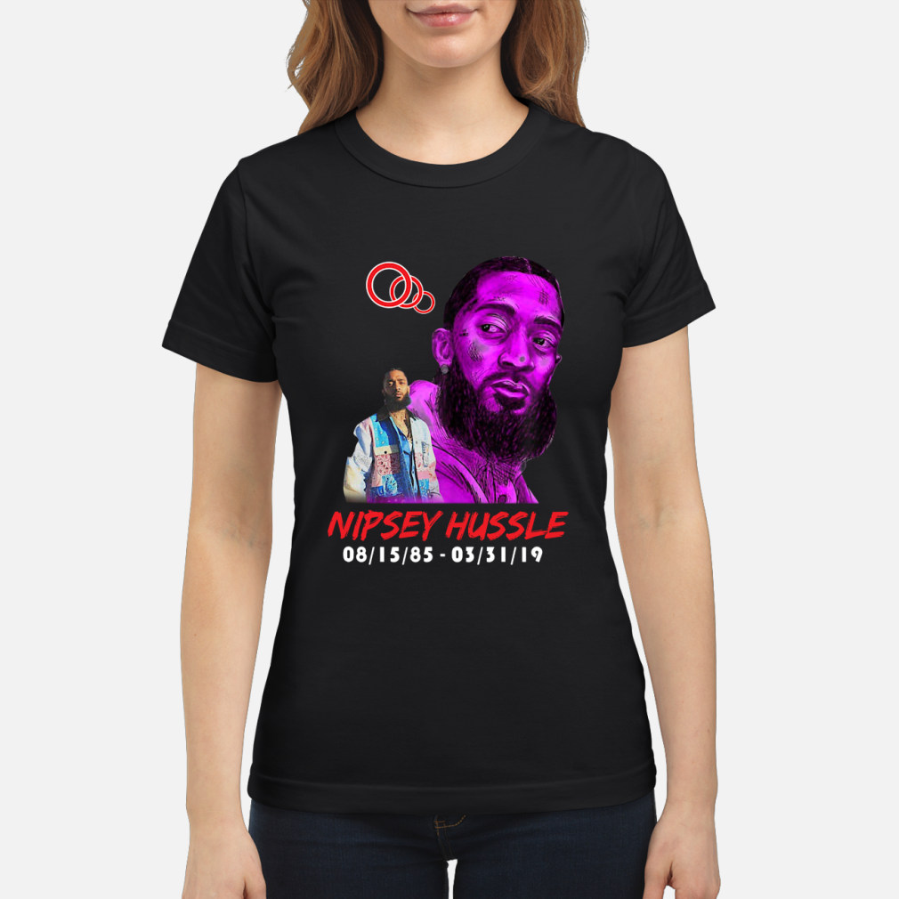 RIP NIPSEY HUSSLE CRERSHAW SHIRT ladies tee