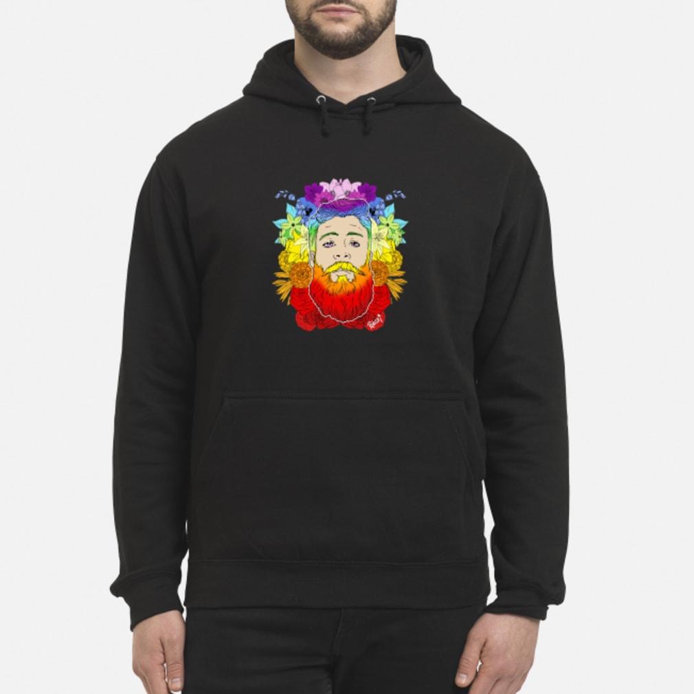 Rainbow beard floral pride shirt hoodie