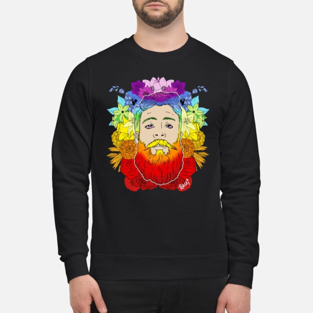 Rainbow beard floral pride shirt sweater