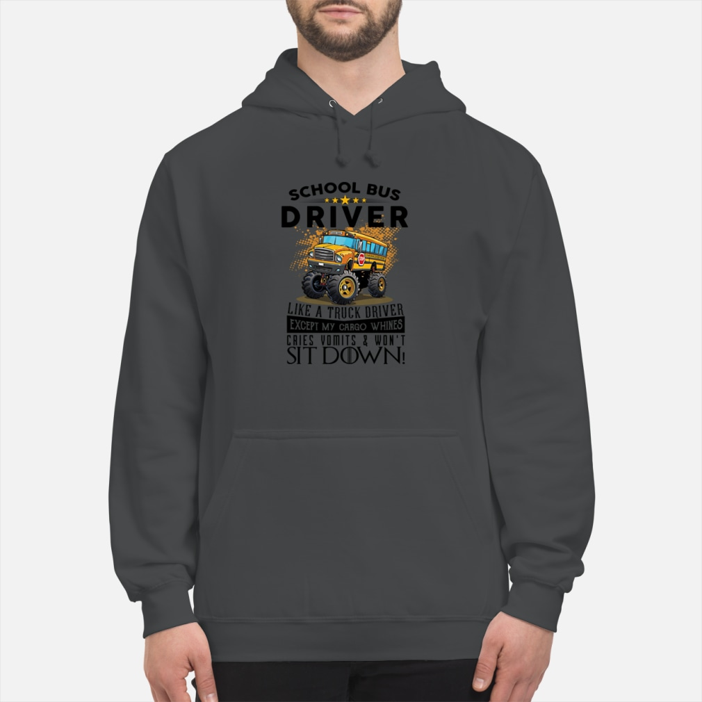 School bus driver like a truck drivers ladies shirt hoodie