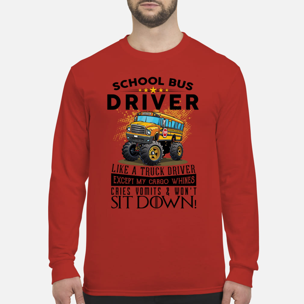 School bus driver like a truck drivers ladies shirt Long sleeved