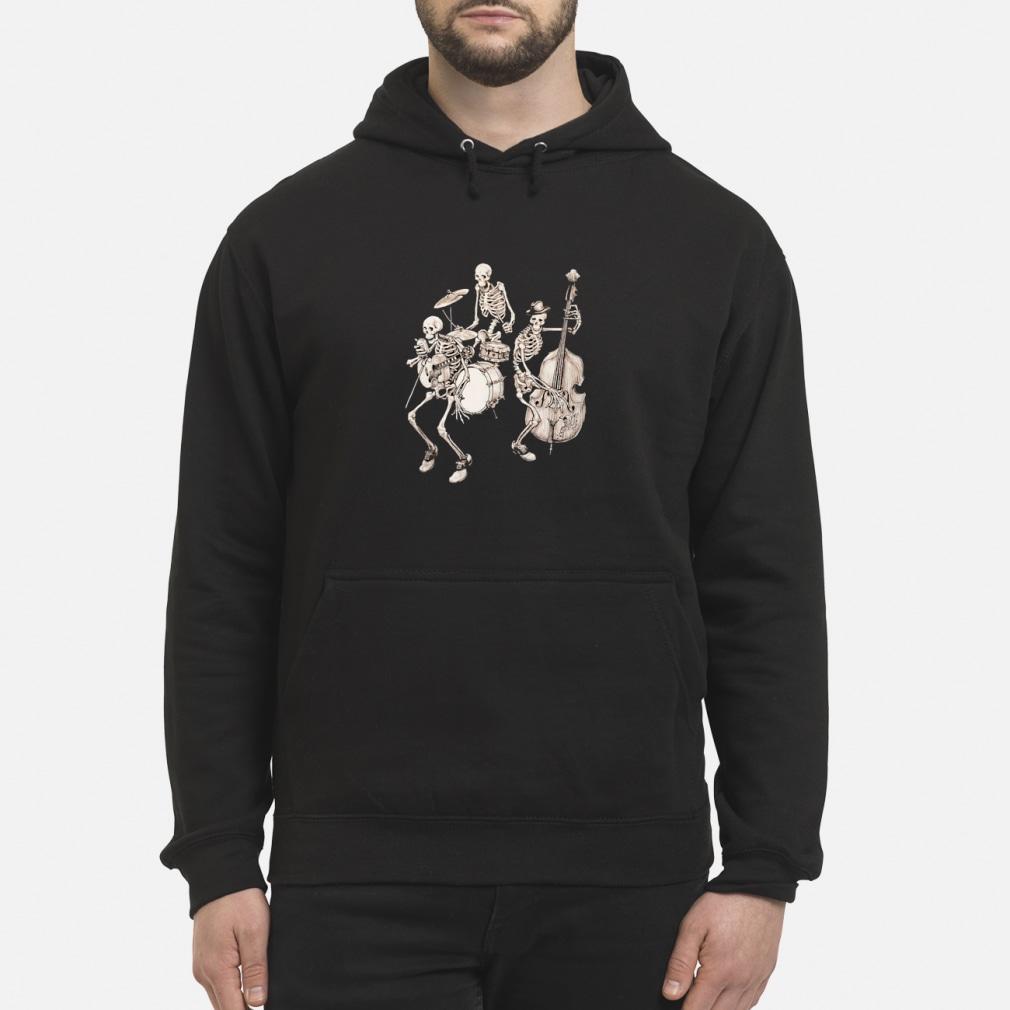 Skull band music shirt hoodie