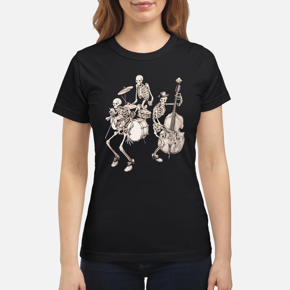 Skull band music shirt ladies tee