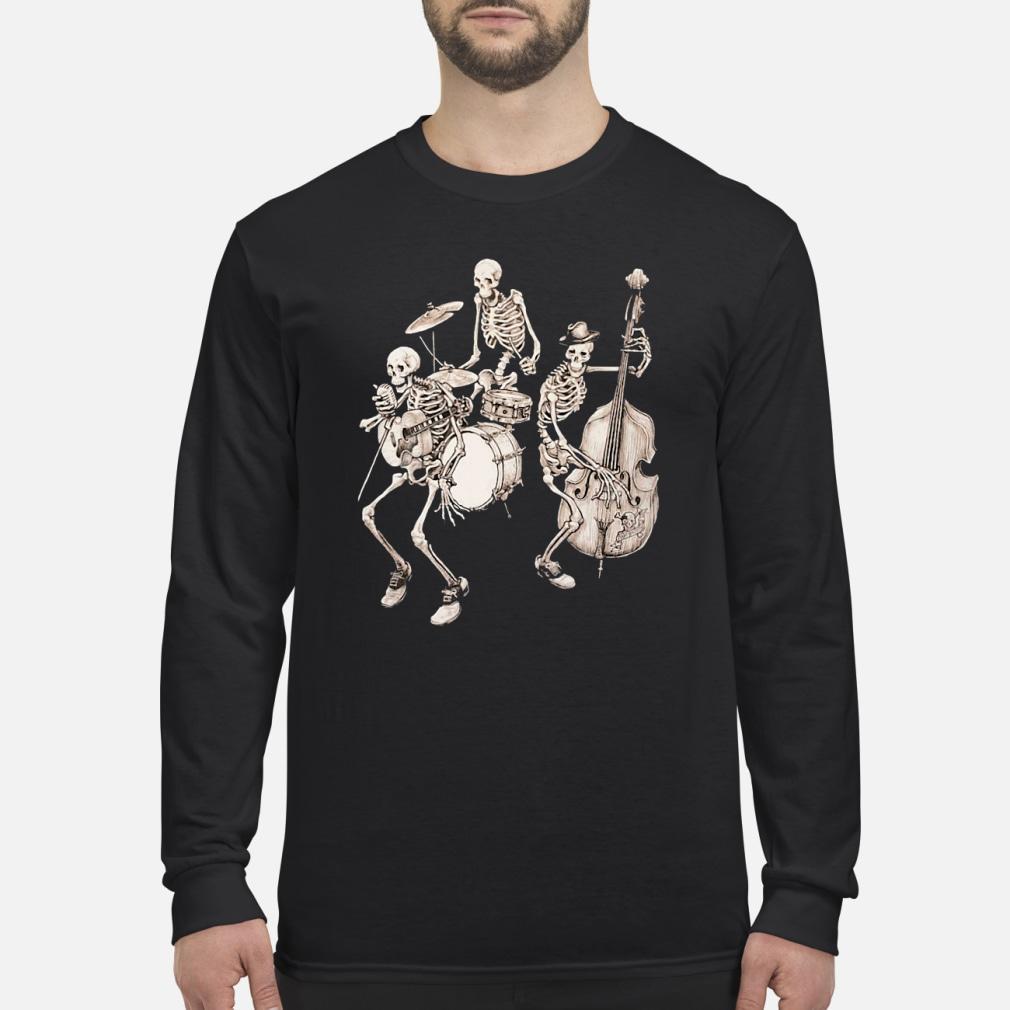 Skull band music shirt Long sleeved