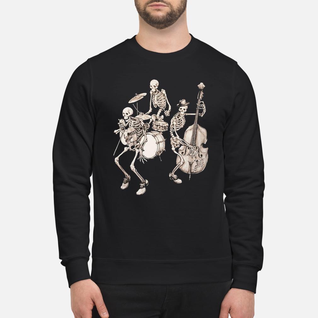Skull band music shirt sweater