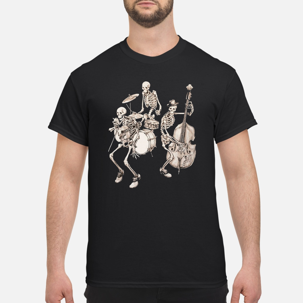 Skull band music shirt