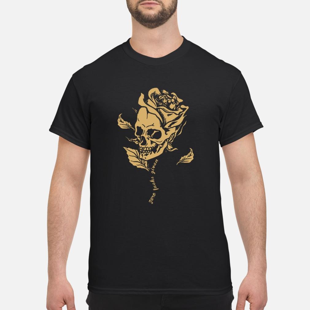 Skull zero fucks given shirt