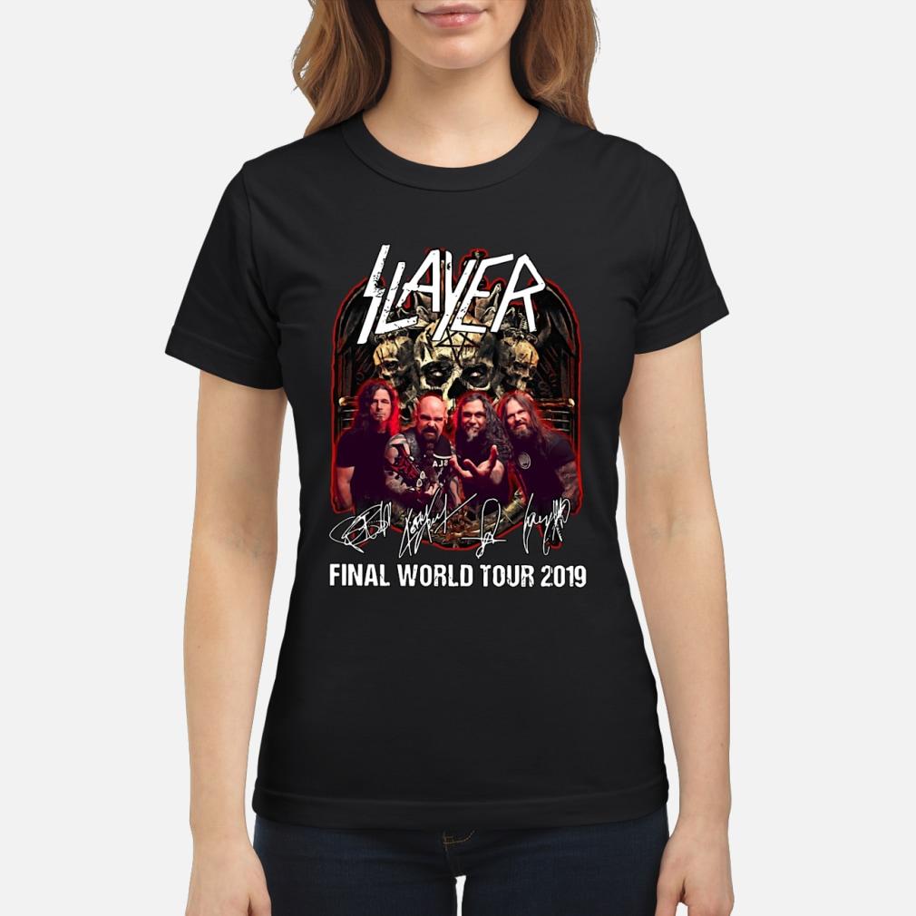 Slayer final world tour 2019 shirt ladies tee
