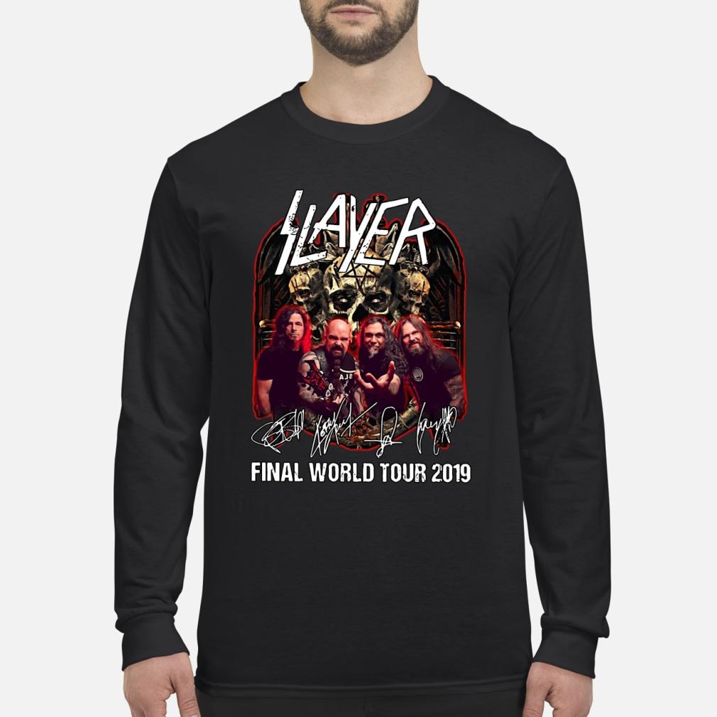 Slayer final world tour 2019 shirt Long sleeved