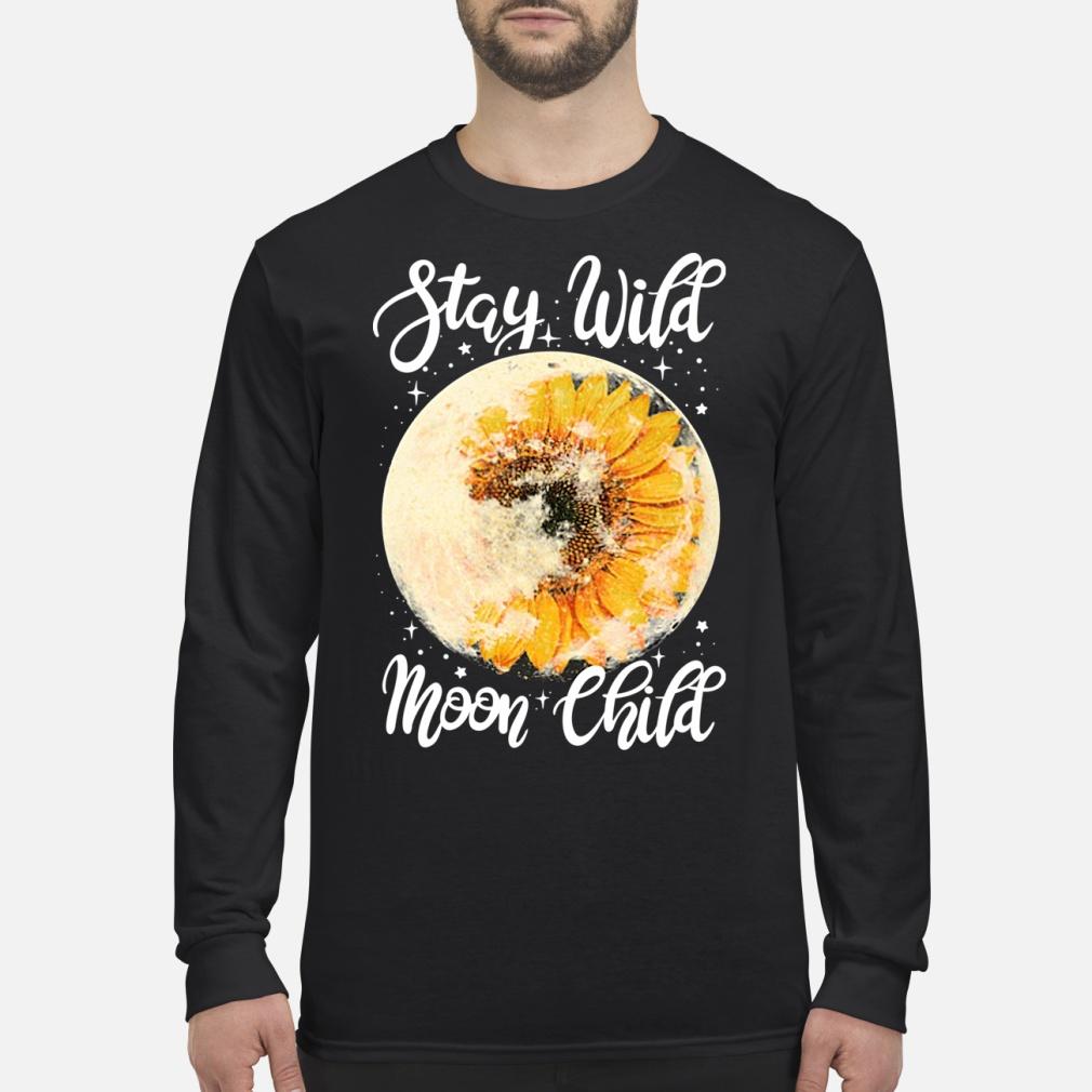 Stay Wild Moon Child Sunflower Shirt Long sleeved