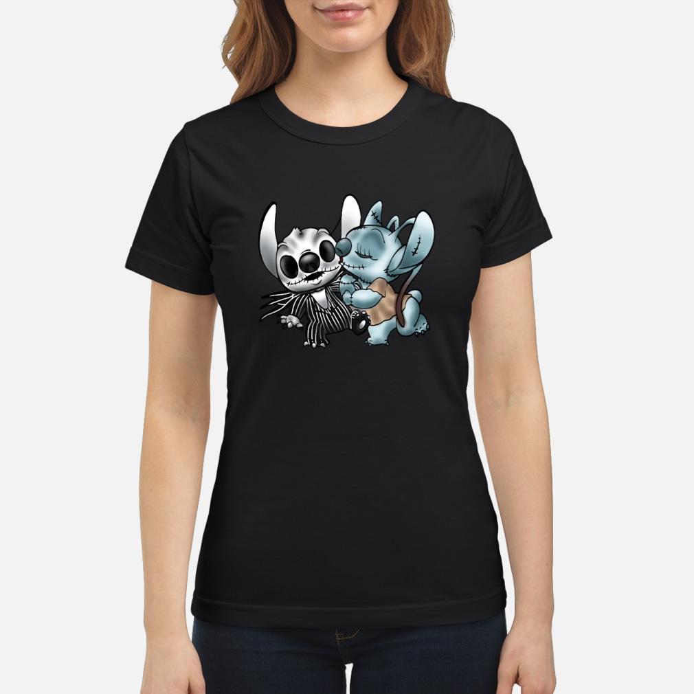 Stitch Jack Skellington Sally nightmare shirt ladies tee