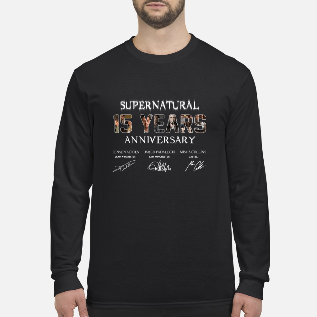 SuperNatural 15 years anniversary ladies shirt Long sleeved